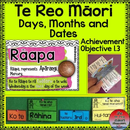 Te Reo Māori - Days, Months and Dates