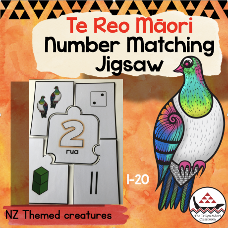 te reo Māori number jigsaw