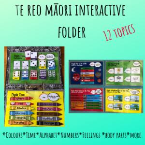 te reo maori interactive folder