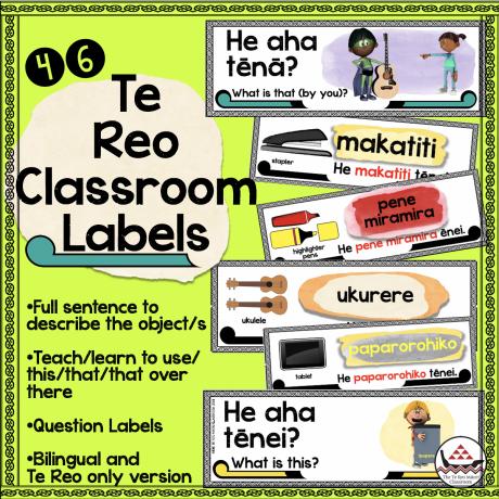 Te Reo classroom labels