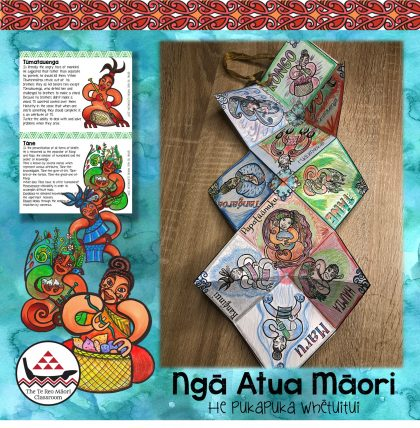Maori gods concertina book