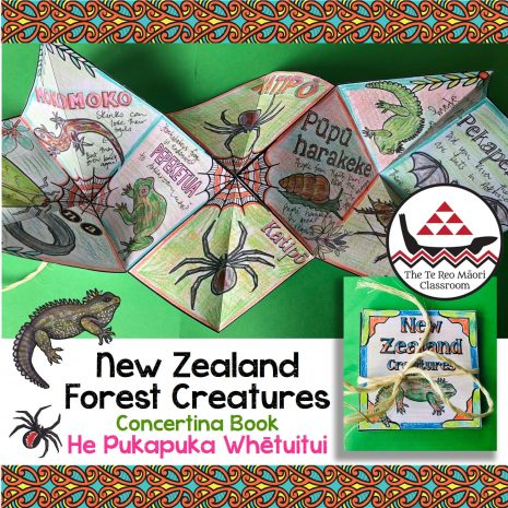 Concertina Book - New Zealand Forest Creatures