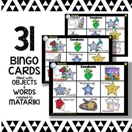 Matariki Bingo Cards