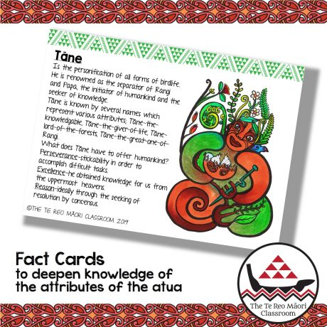 Maori gods concertina book fact cards