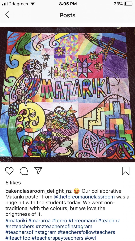 Matariki stars collaborative poster