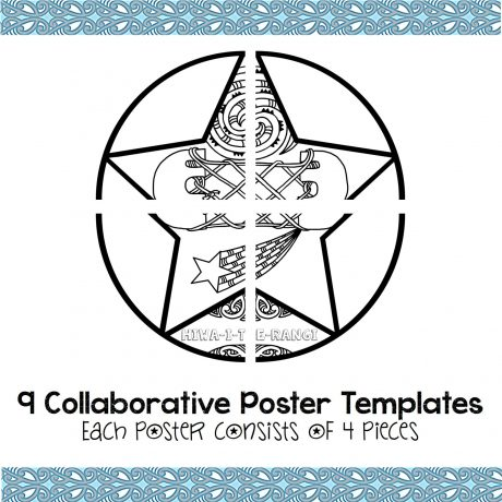 Matariki Stars Mini Collaborative Poster Templates