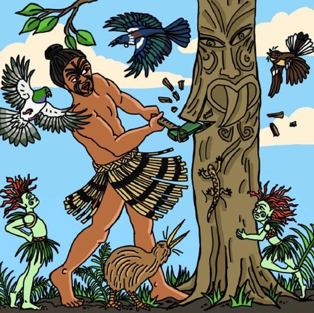 Maori stories - Rata and the Waka