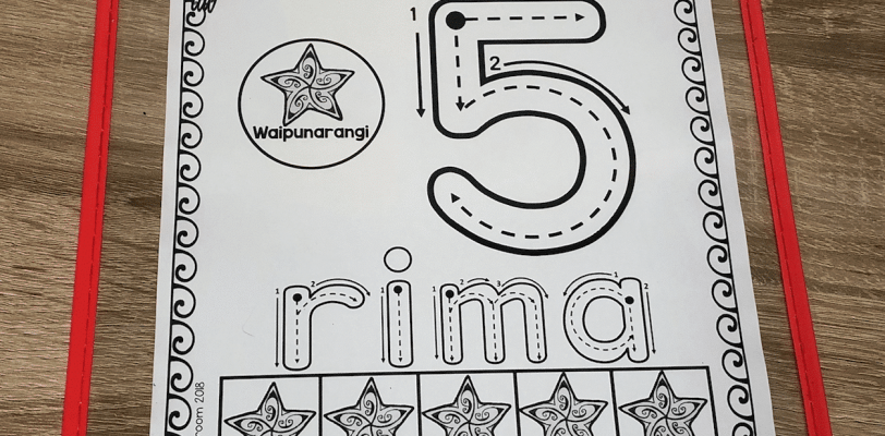 Maori number recognition activity mats