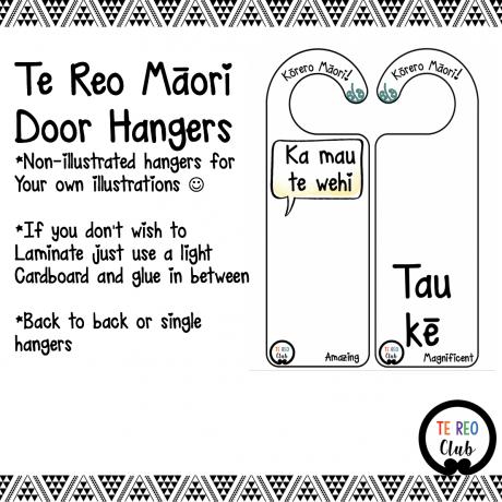 te reo Māori door hangers