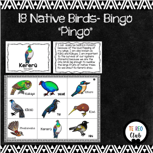 NZ Native Birds Bingo