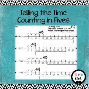 telling time counting fives