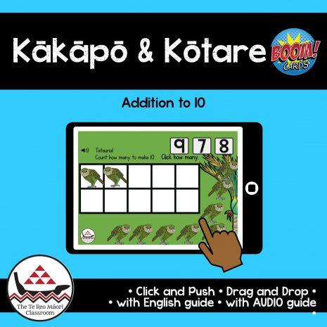 Kākāpō and Kōtare NZ Birds Addition to 10 Boom Cards