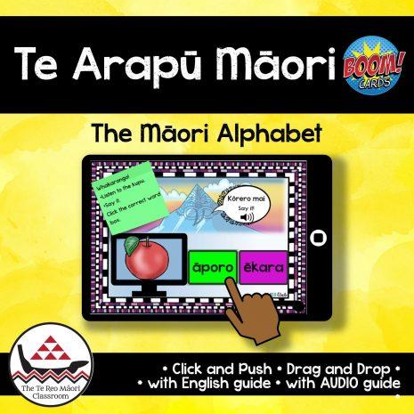 Maori Alphabet Boom Cards TTRMC